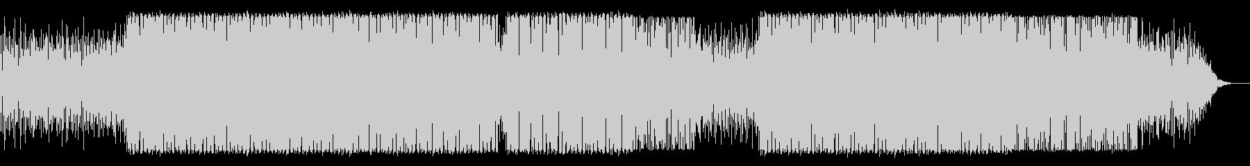 ニュース・映像向け未来的テクノBGMの未再生の波形