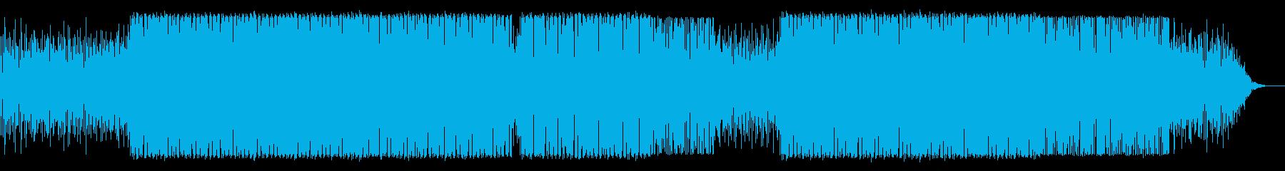 ニュース・映像向け未来的テクノBGMの再生済みの波形