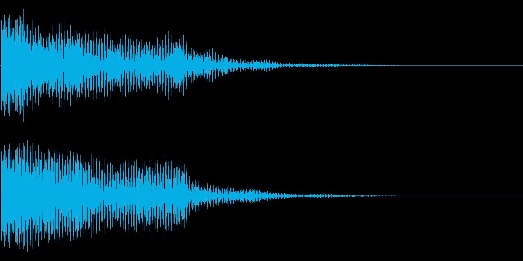 トゥーー(響き有)の再生済みの波形