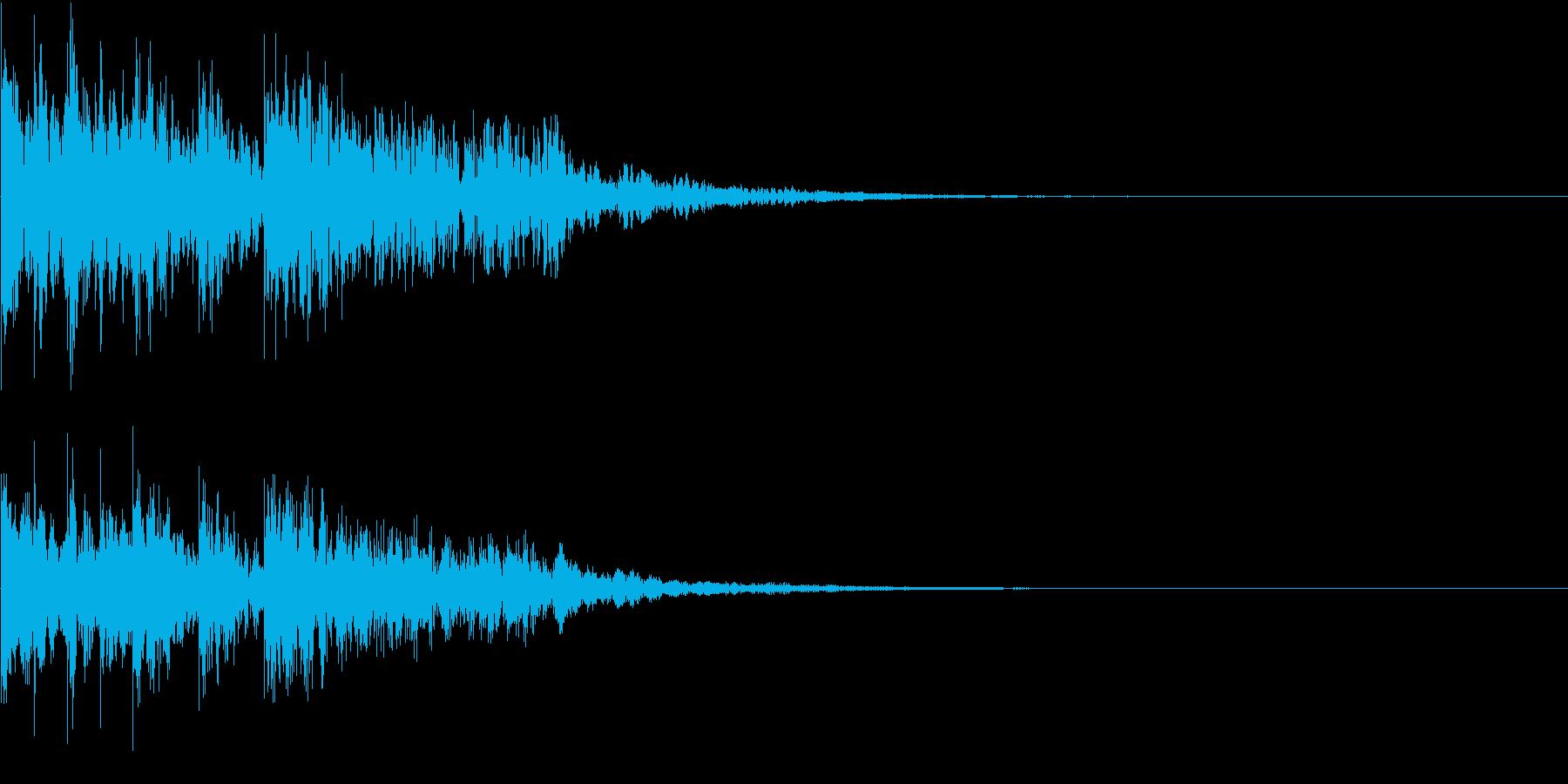 がっかりした時に使えるショートジングルの再生済みの波形