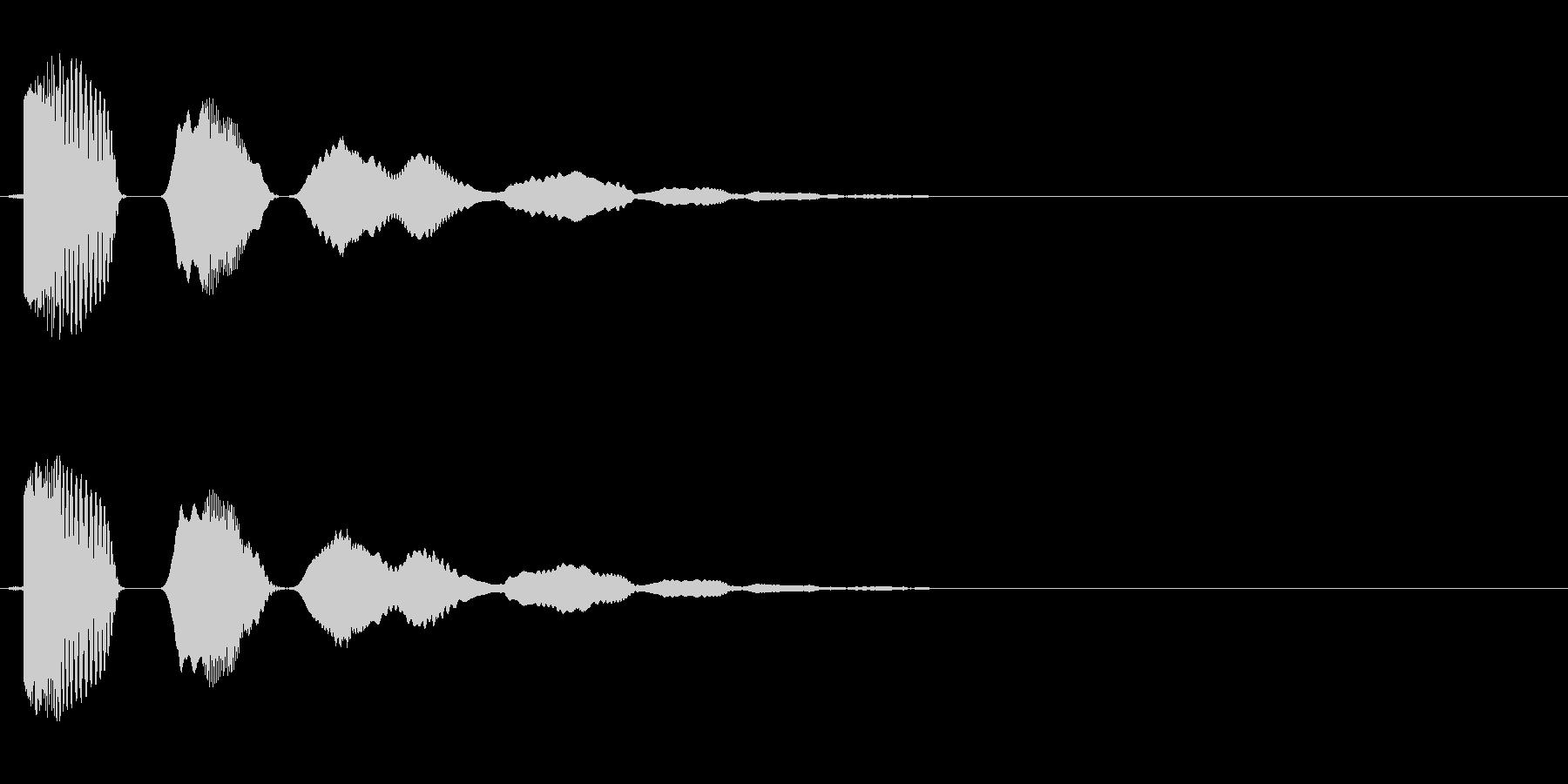 ボヨヨーン(弾力のある効果音)の未再生の波形