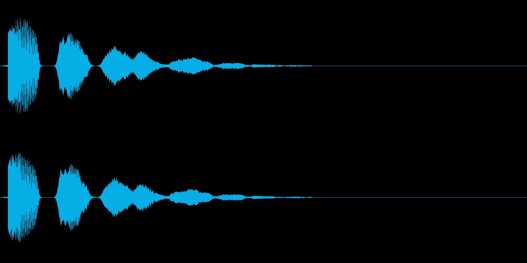ボヨヨーン(弾力のある効果音)の再生済みの波形
