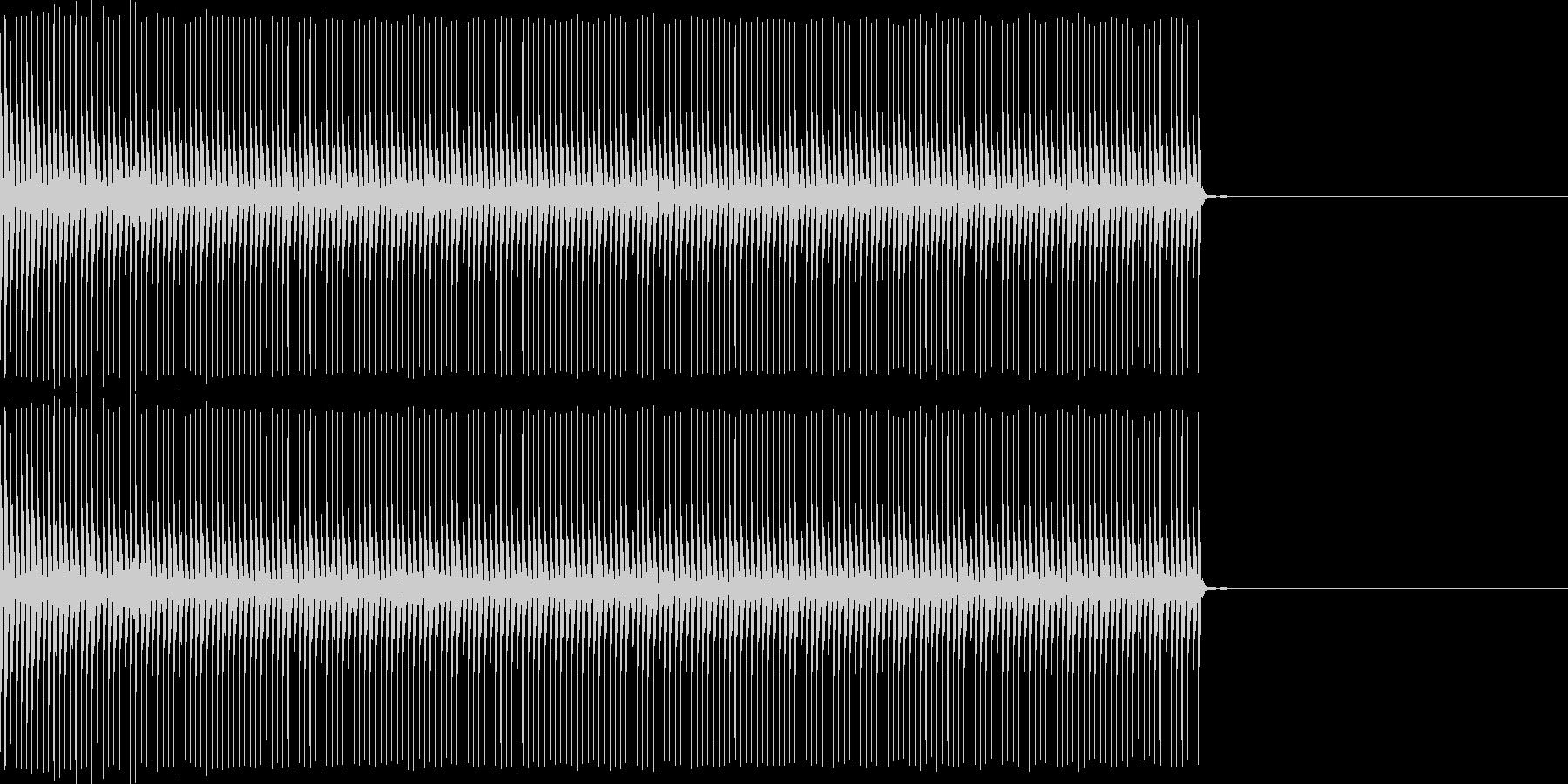 クイズなどの「ブー」という不正解の音ですの未再生の波形
