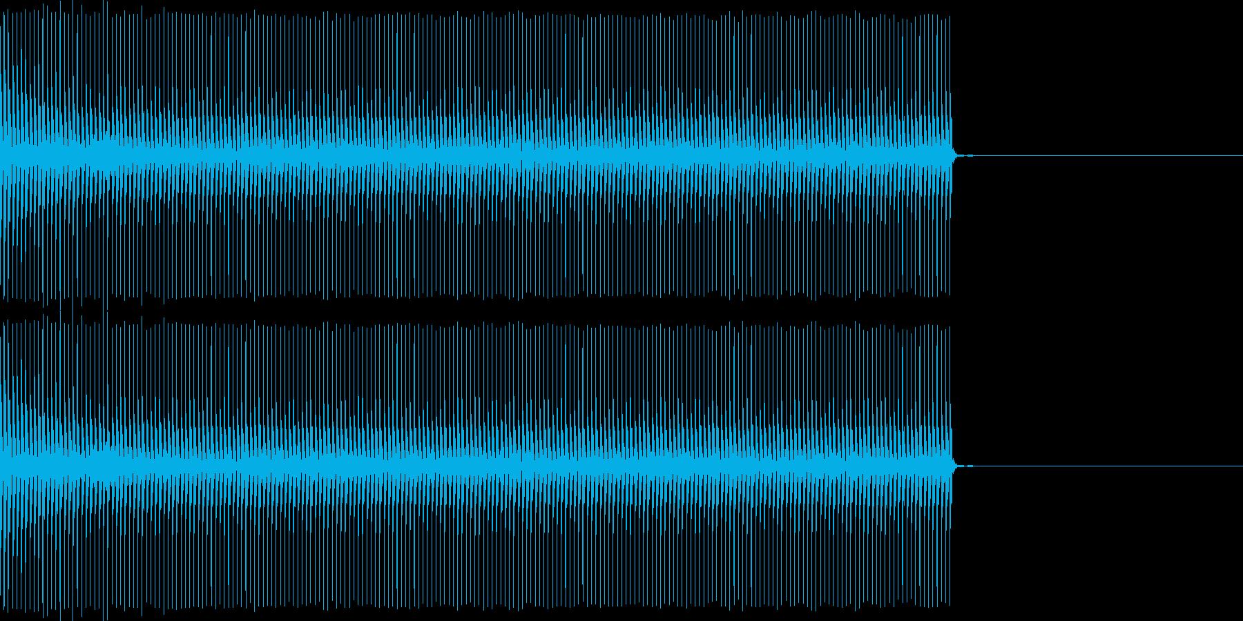 クイズなどの「ブー」という不正解の音ですの再生済みの波形