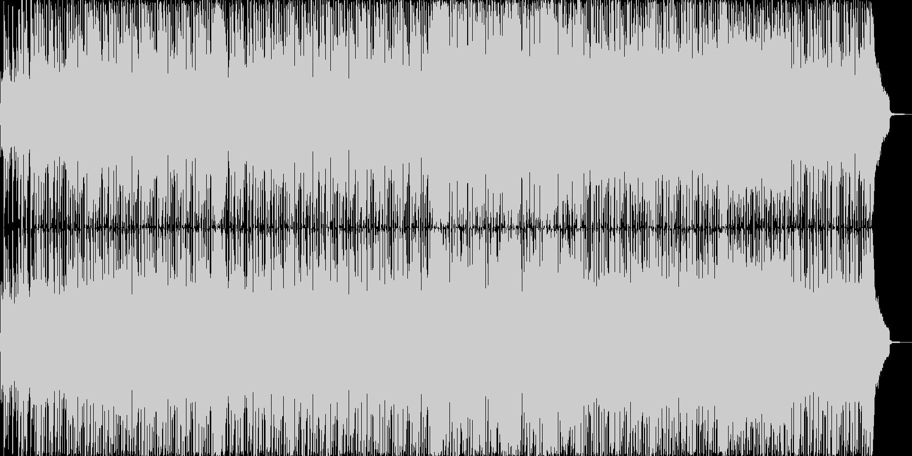コミカルに軽快なスキップの明るい曲の未再生の波形