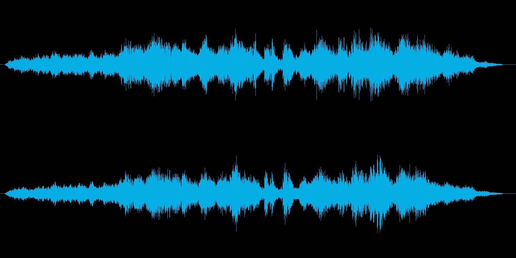 木立を吹き抜けるさわやかな風の音楽の再生済みの波形