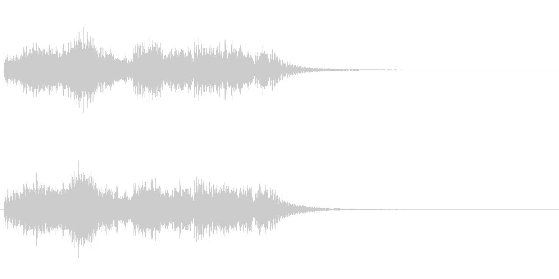 バーンの未再生の波形