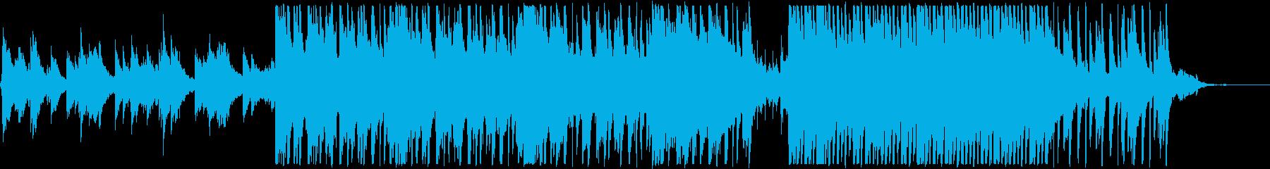ピアノメインの新しい一日が始まる系BGMの再生済みの波形