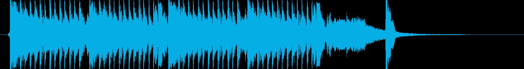 和風ジングル、コミカル、尺八、三味線、琴の再生済みの波形