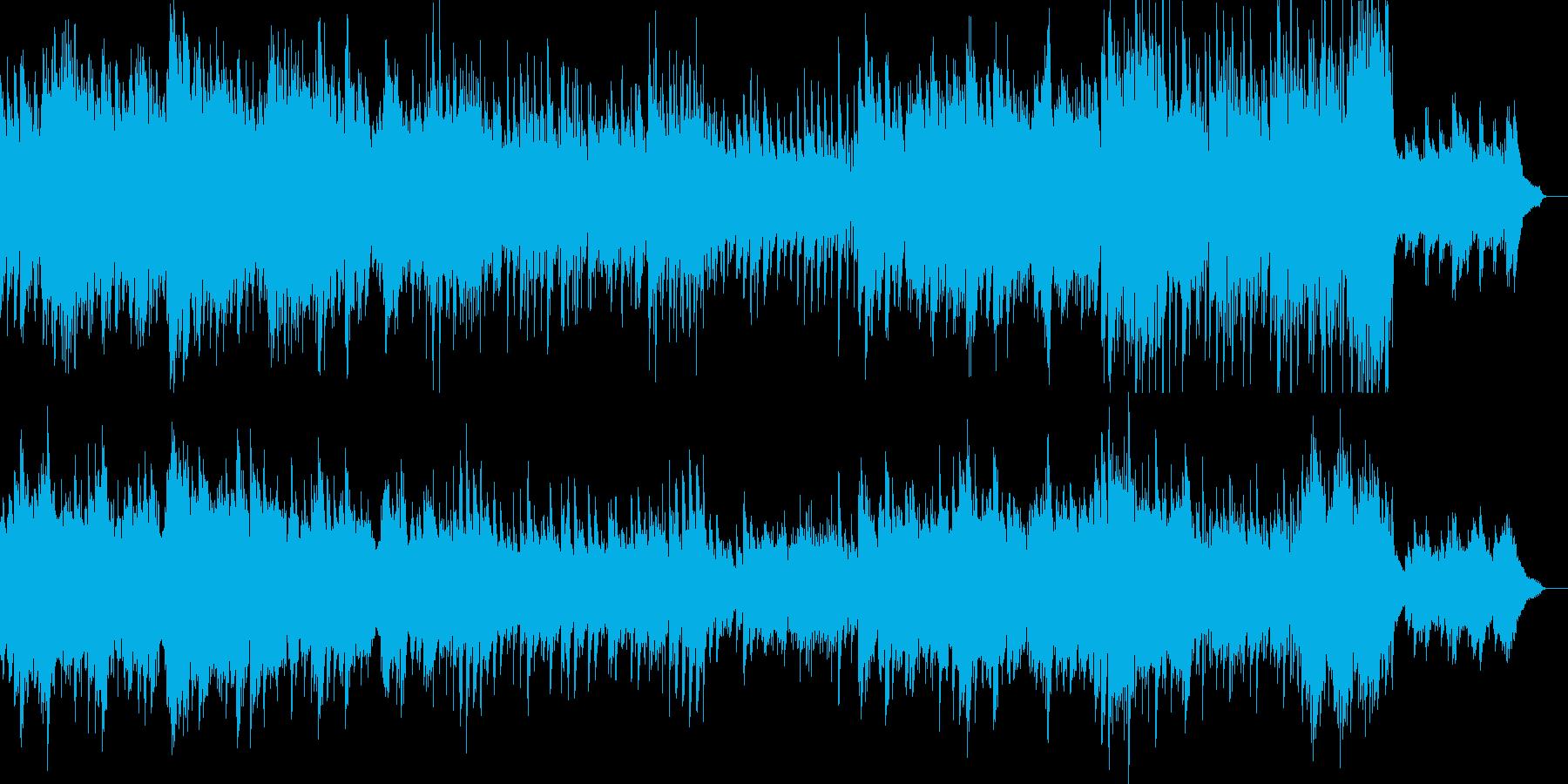 優しくも切ない雰囲気の映像用ピアノ曲の再生済みの波形