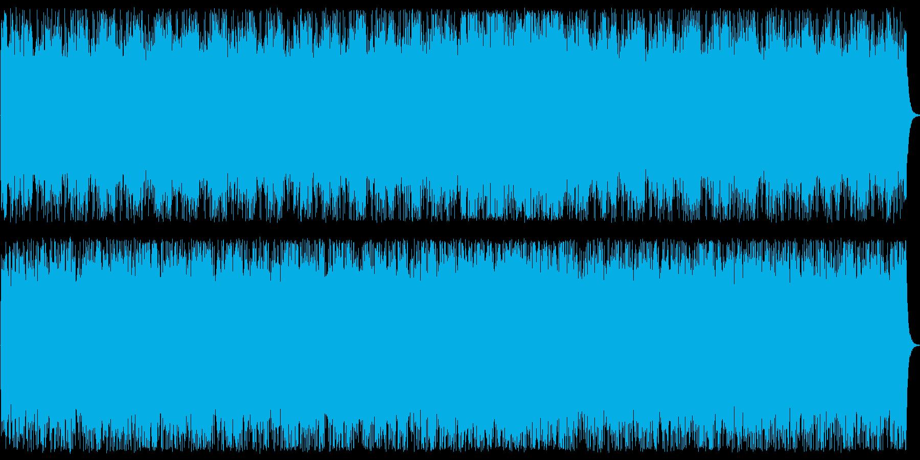 重厚なトライアングルとシンセサイザーの曲の再生済みの波形