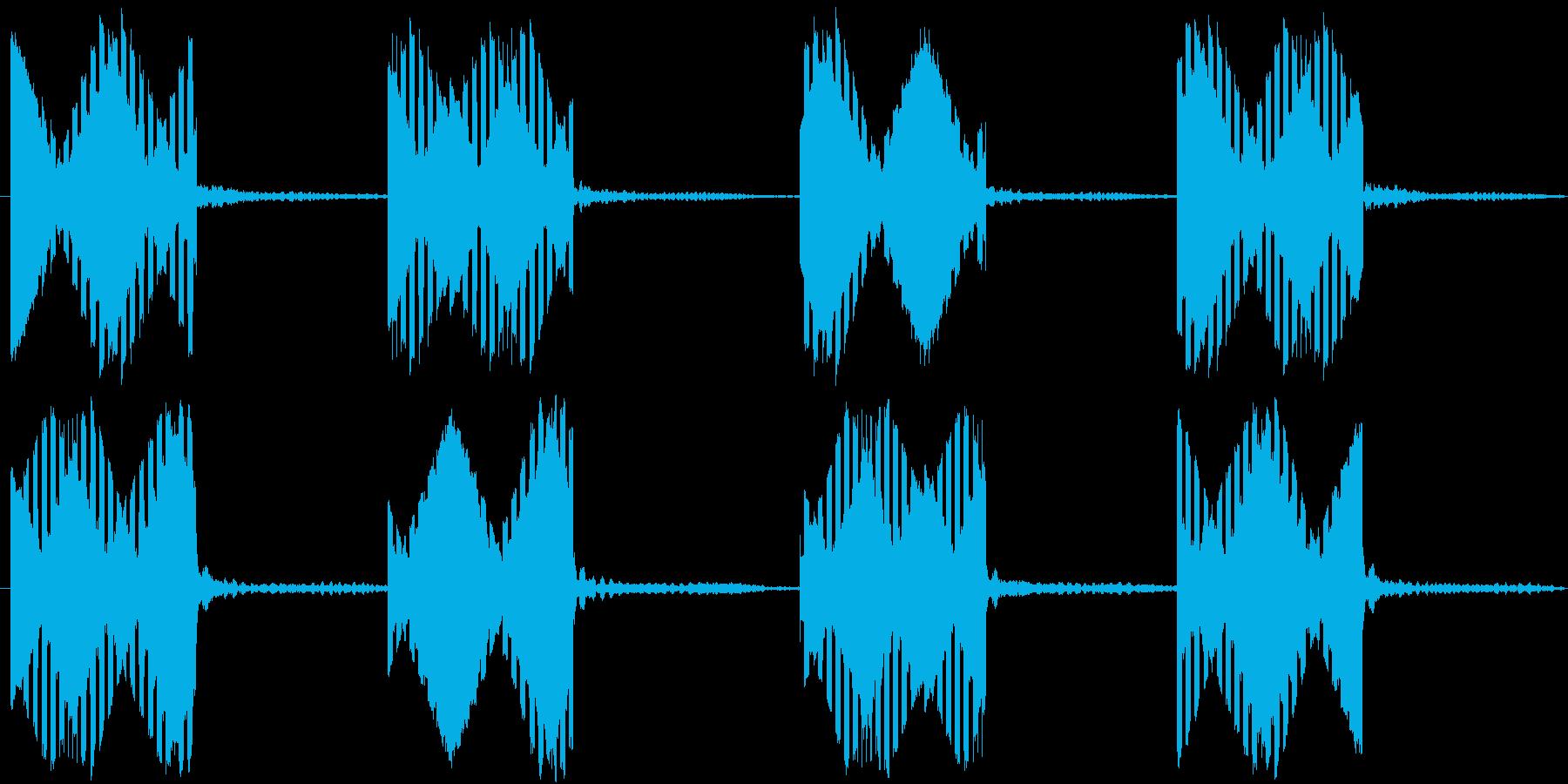 電話の音(固定電話)【2】の再生済みの波形
