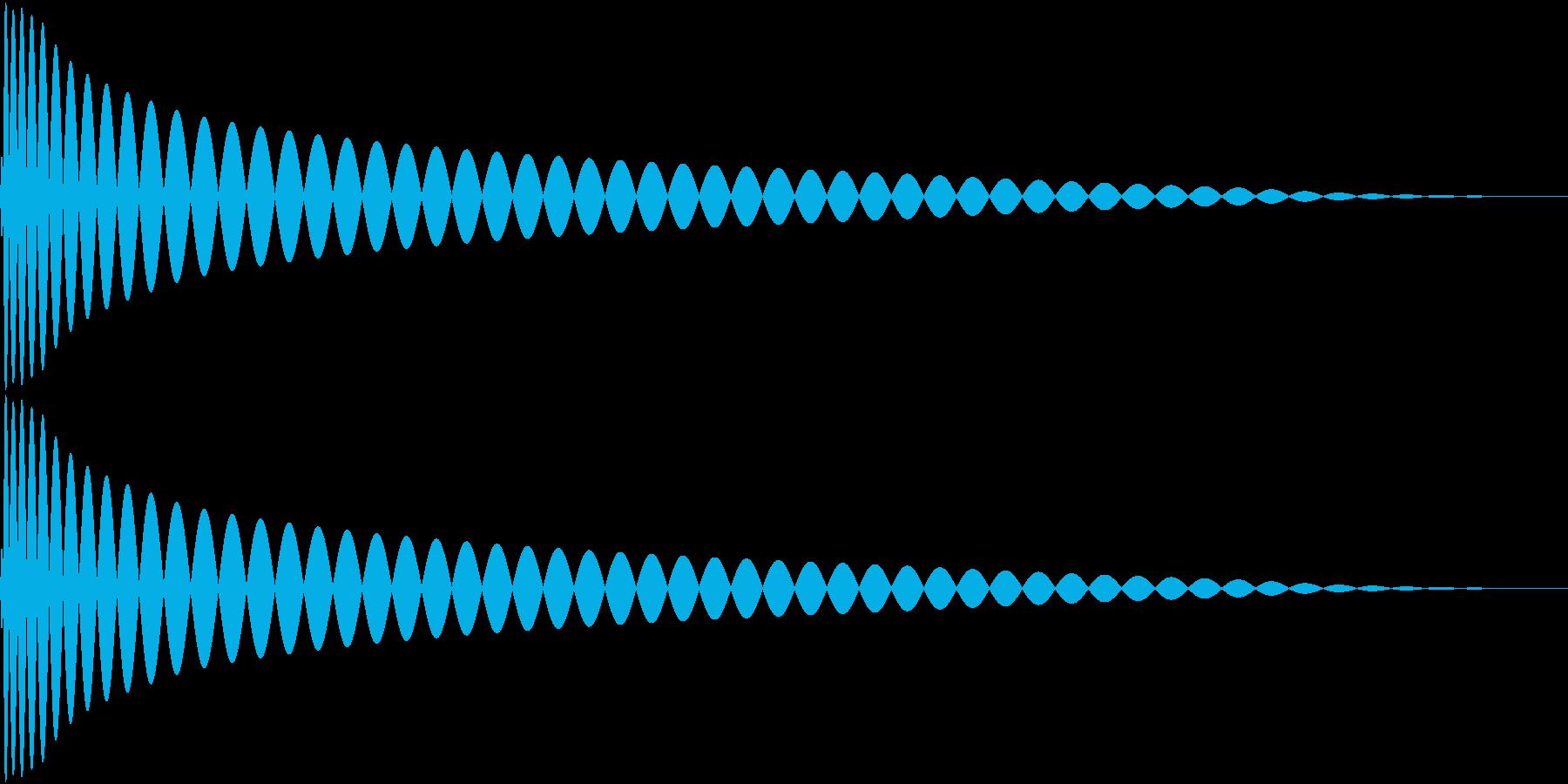 DTM Kick 65 オリジナル音源の再生済みの波形