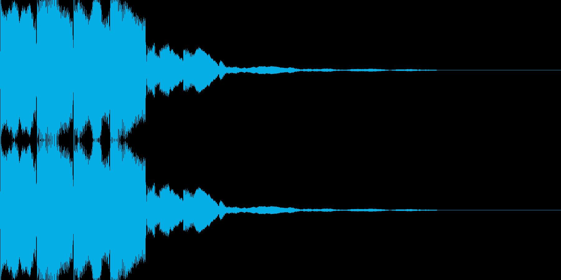 電子音(ピコピコ)の再生済みの波形