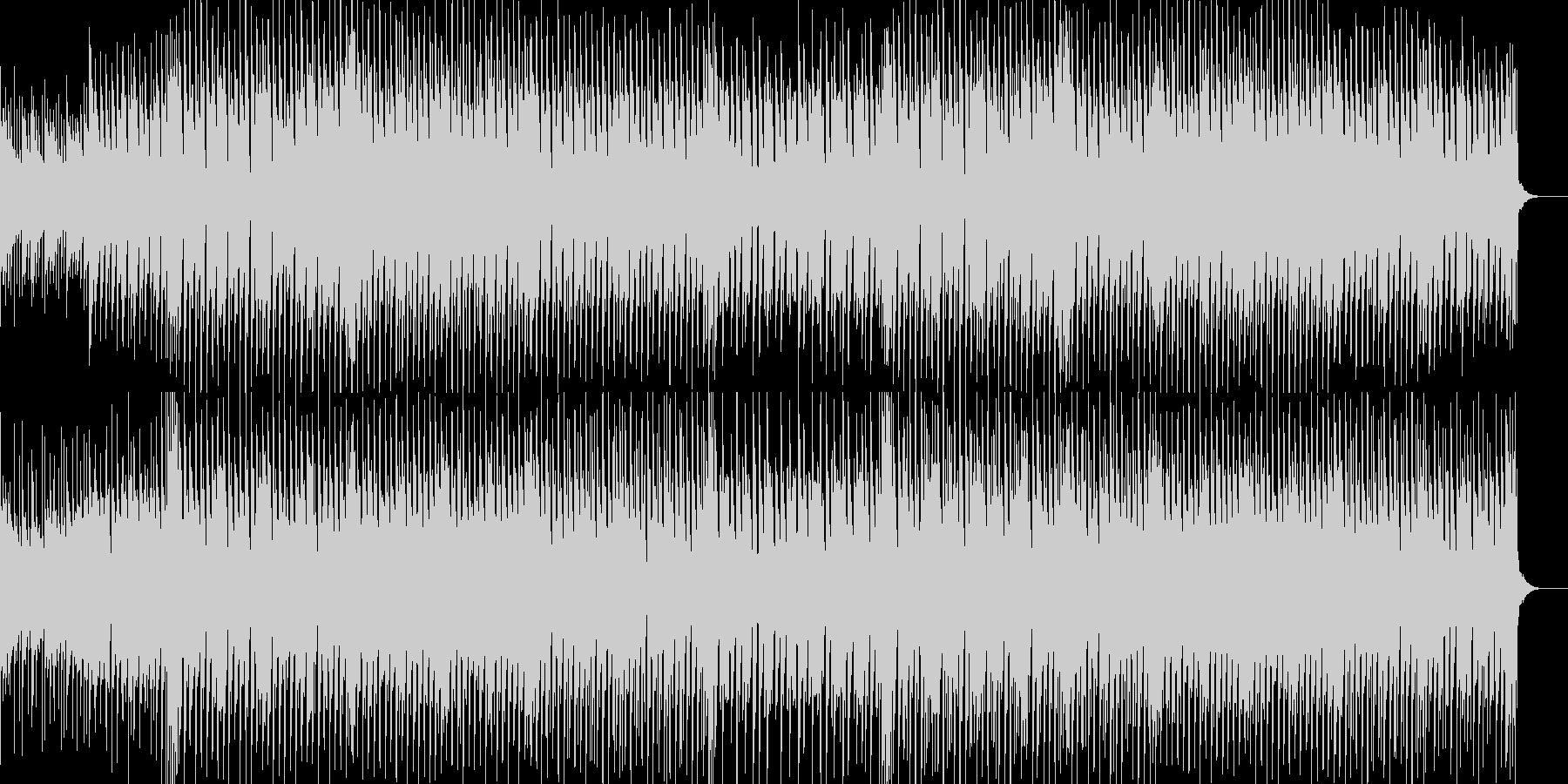 軽快なリズムと切ないリフが印象的なBGMの未再生の波形
