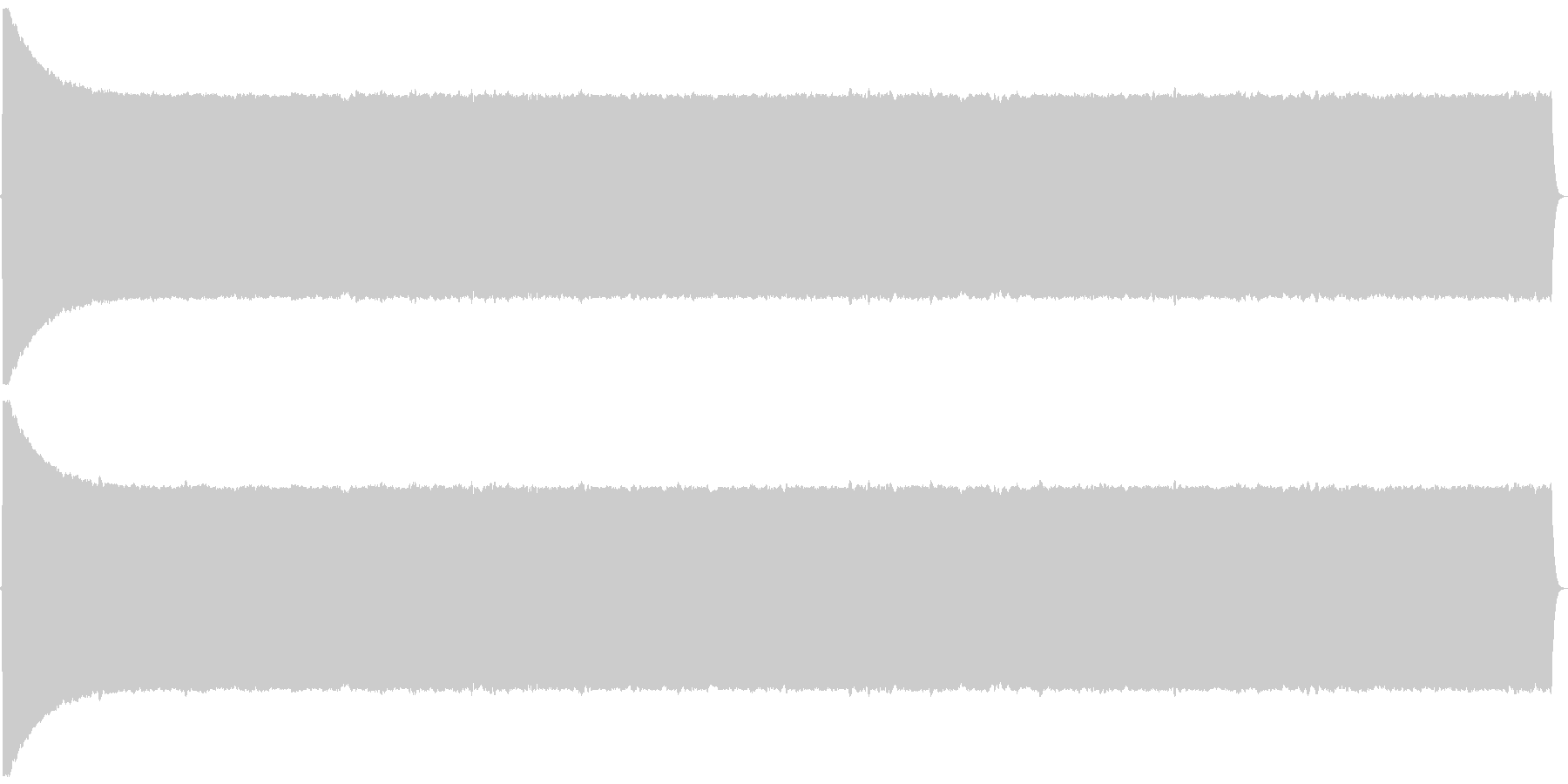 プヨヨヨヨヨ。言葉を伏せる音(高・長)の未再生の波形