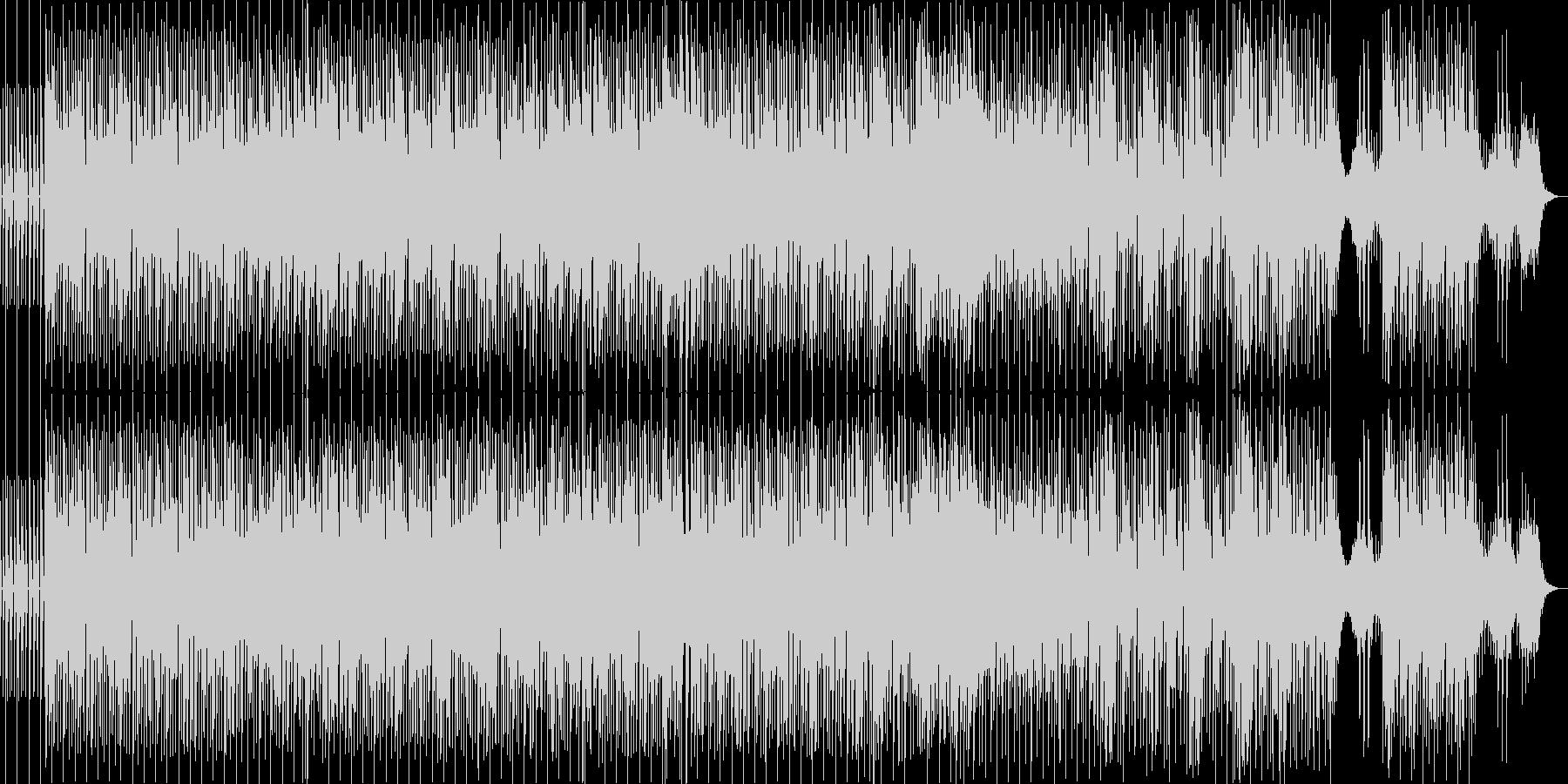 電子音を使ったキャッチーな曲調の未再生の波形