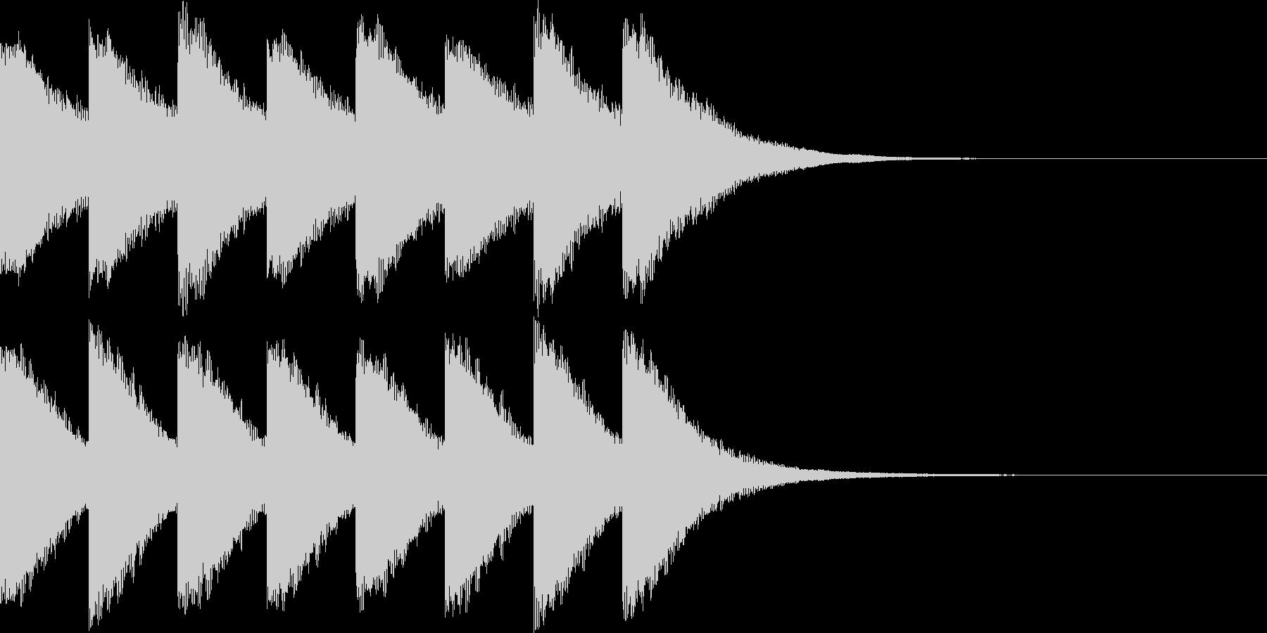 カンカン..。踏切C(低・短)の未再生の波形