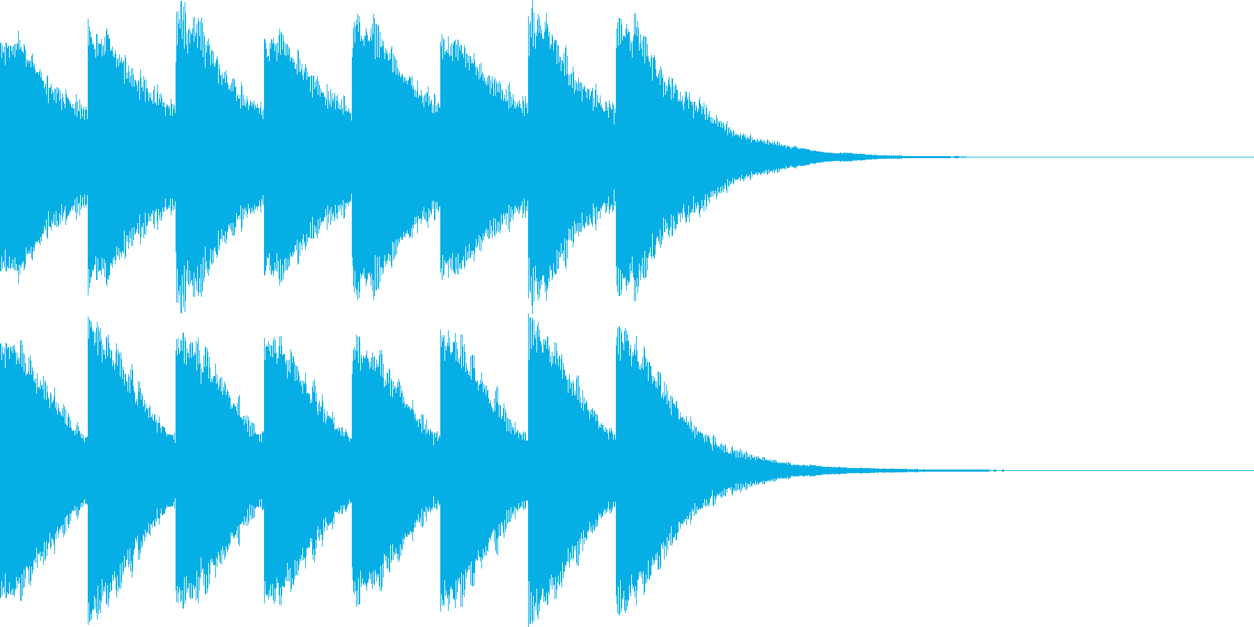 カンカン..。踏切C(低・短)の再生済みの波形