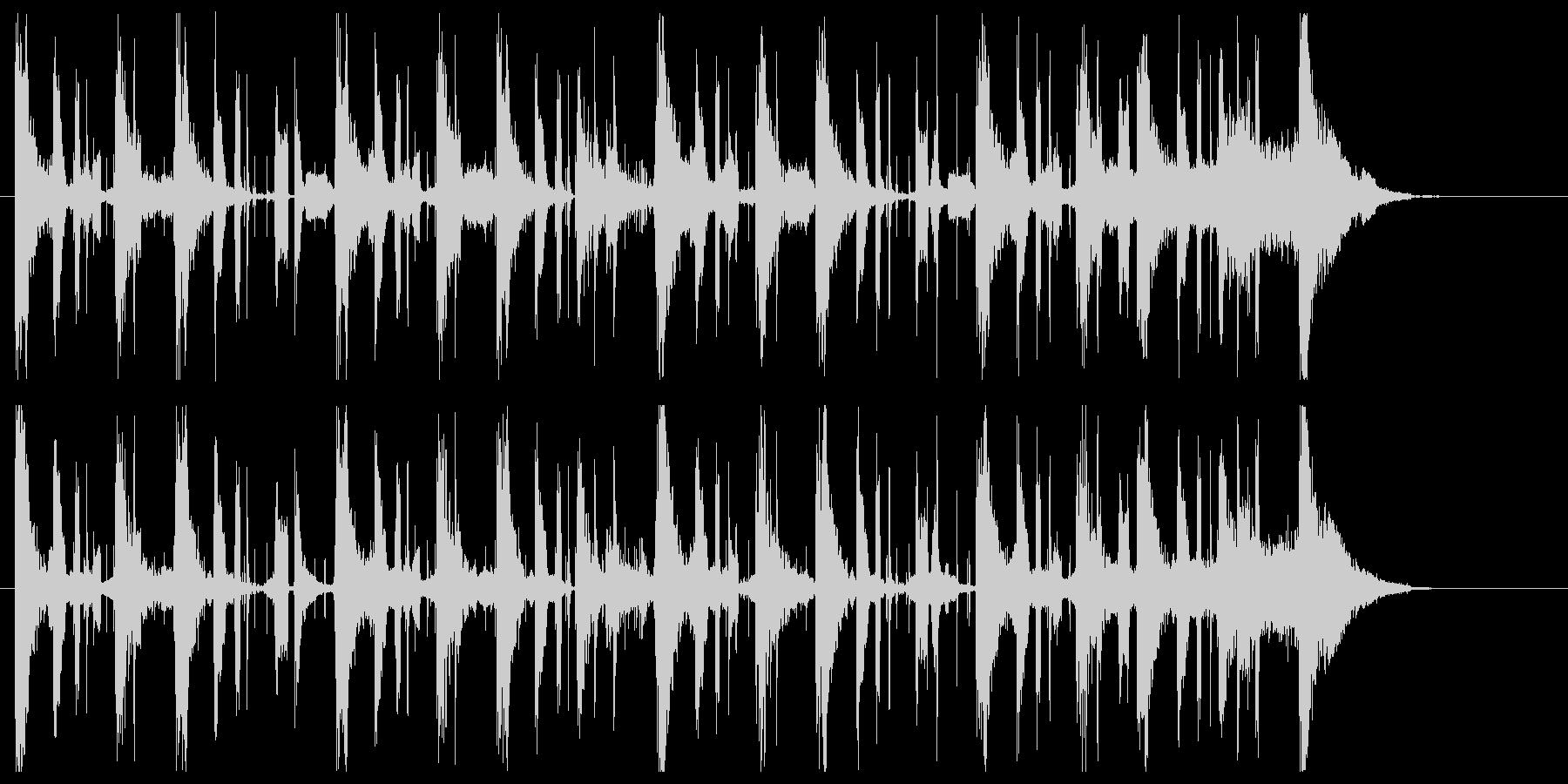 シシオドシをイメージした和風ジングルの未再生の波形