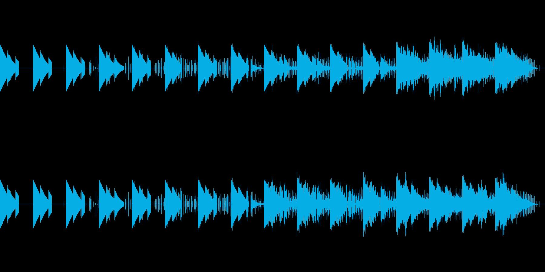 静かな海のBGMの再生済みの波形