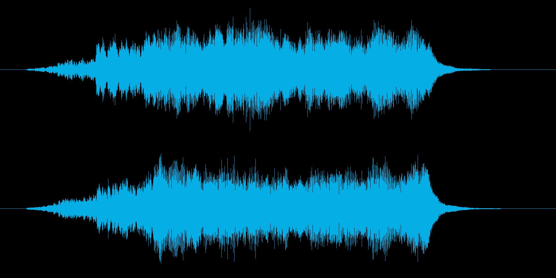 ゆったりと優しいアコギジングルの再生済みの波形