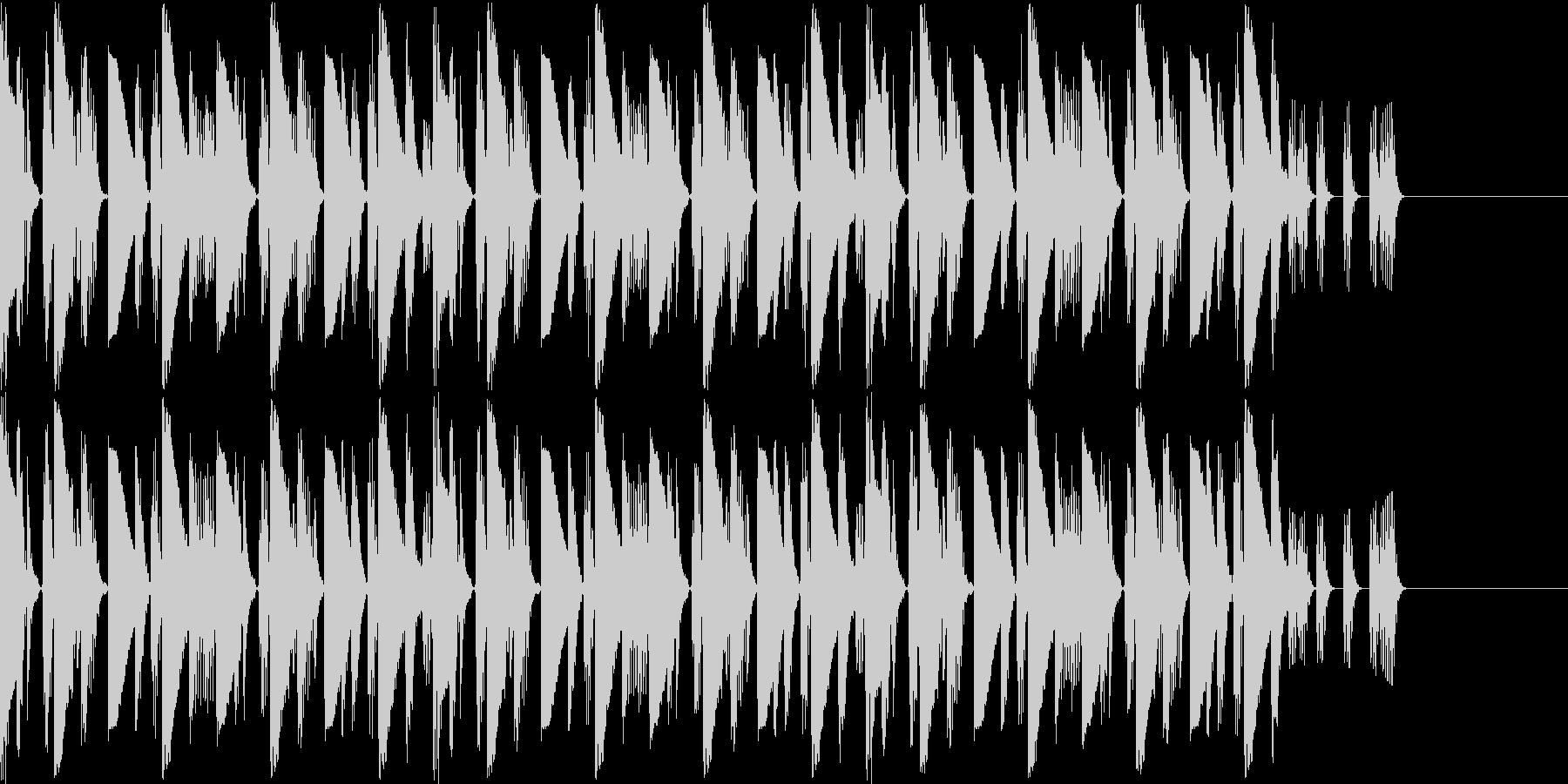 ハウスよりのBGMの未再生の波形