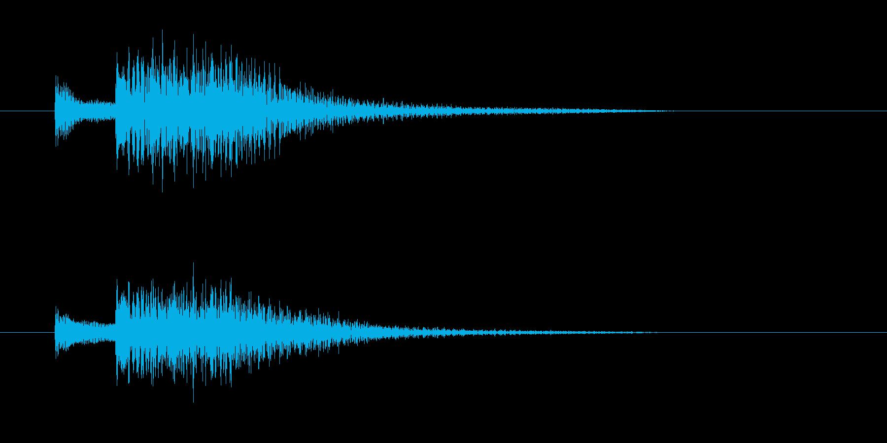 チャラララララン(終わり、お琴)の再生済みの波形