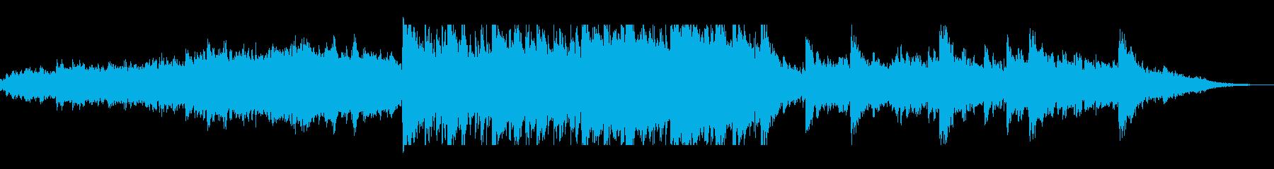 神秘的で透明感のあるシンセサウンドの再生済みの波形