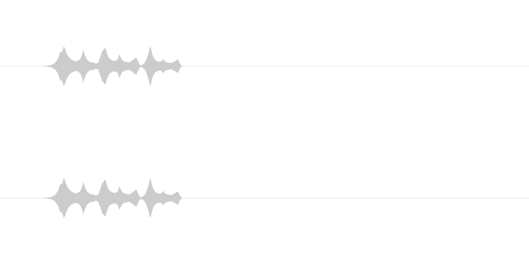 【ポップモーション34-2】の未再生の波形