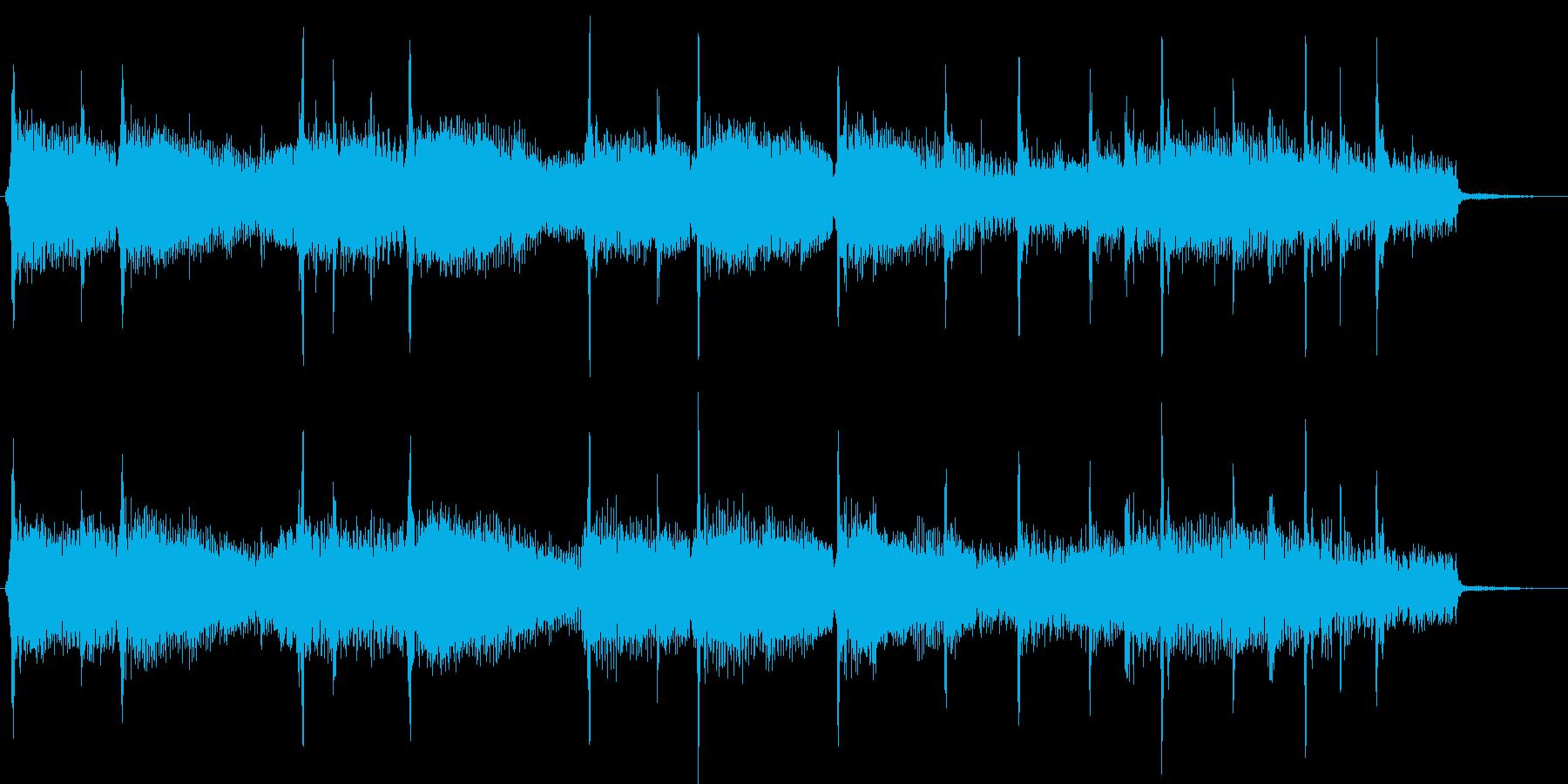 キラキラしたポップなイントロの再生済みの波形