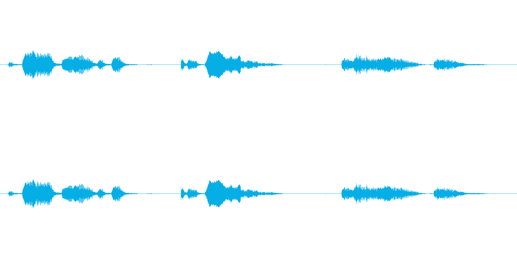赤ちゃんの自然な笑い声の再生済みの波形
