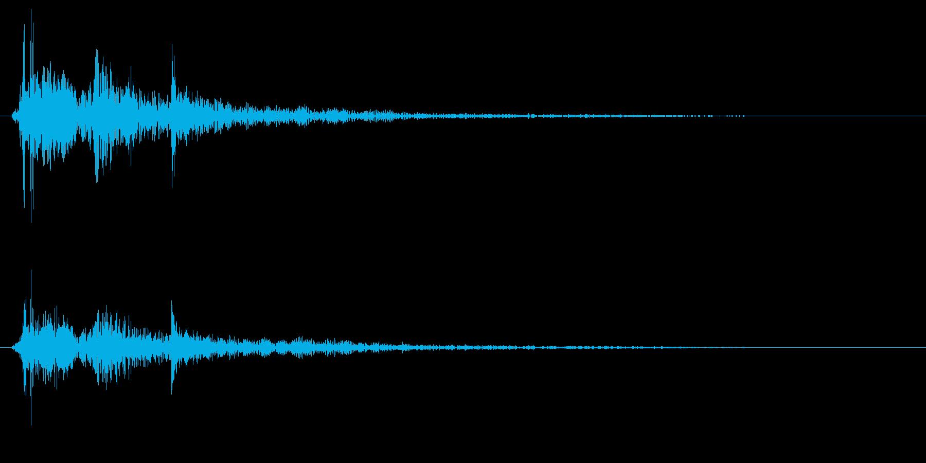 ポタンという水滴の落下音の再生済みの波形