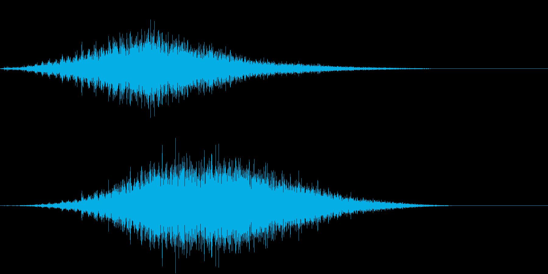 音侍SE「フルフル〜」軽快な振り鈴L-Rの再生済みの波形