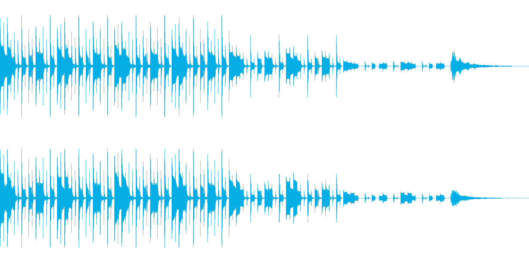 クイズの考え中の音(元気な感じ)の再生済みの波形