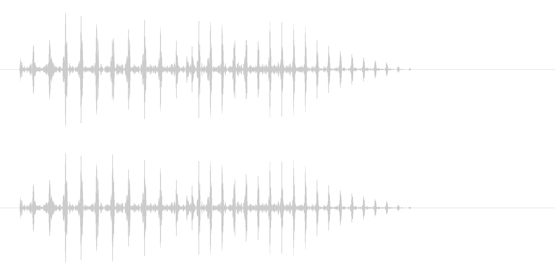プハ、というラッパのような効果音です。の未再生の波形