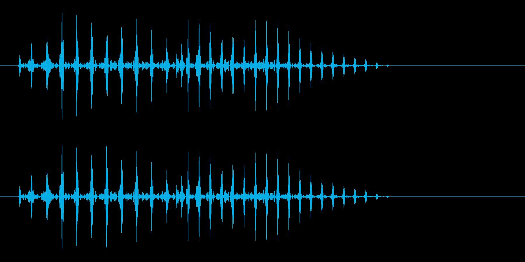 プハ、というラッパのような効果音です。の再生済みの波形