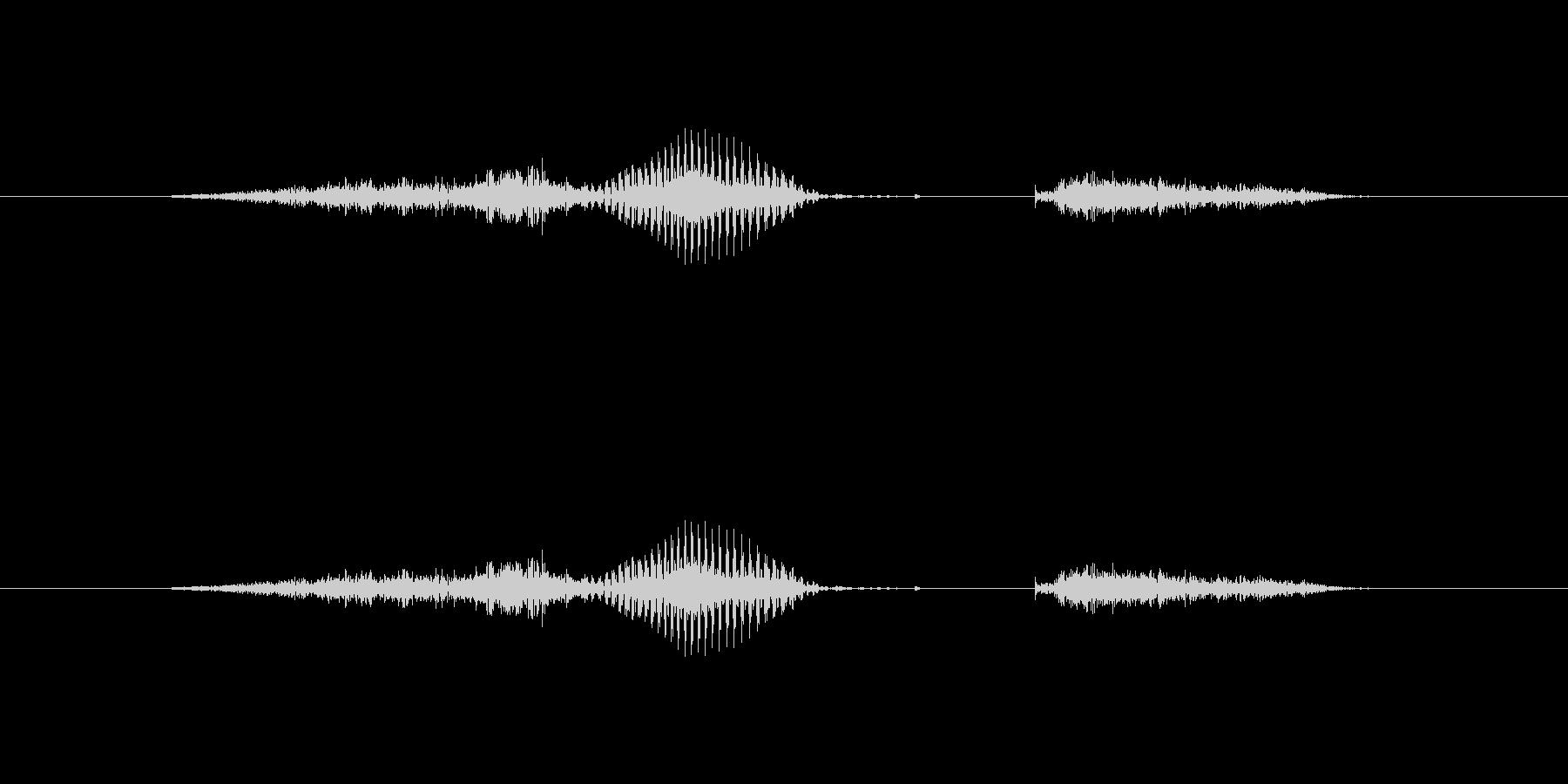 【数字】6(シックス)の未再生の波形