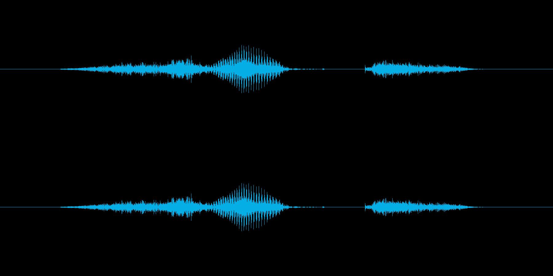 【数字】6(シックス)の再生済みの波形
