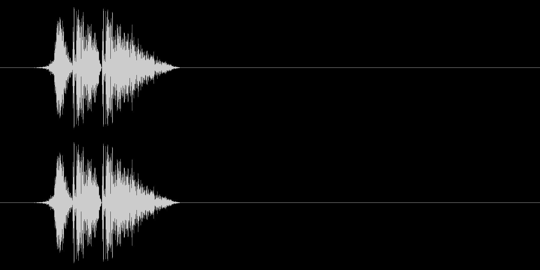 打撃08-4の未再生の波形