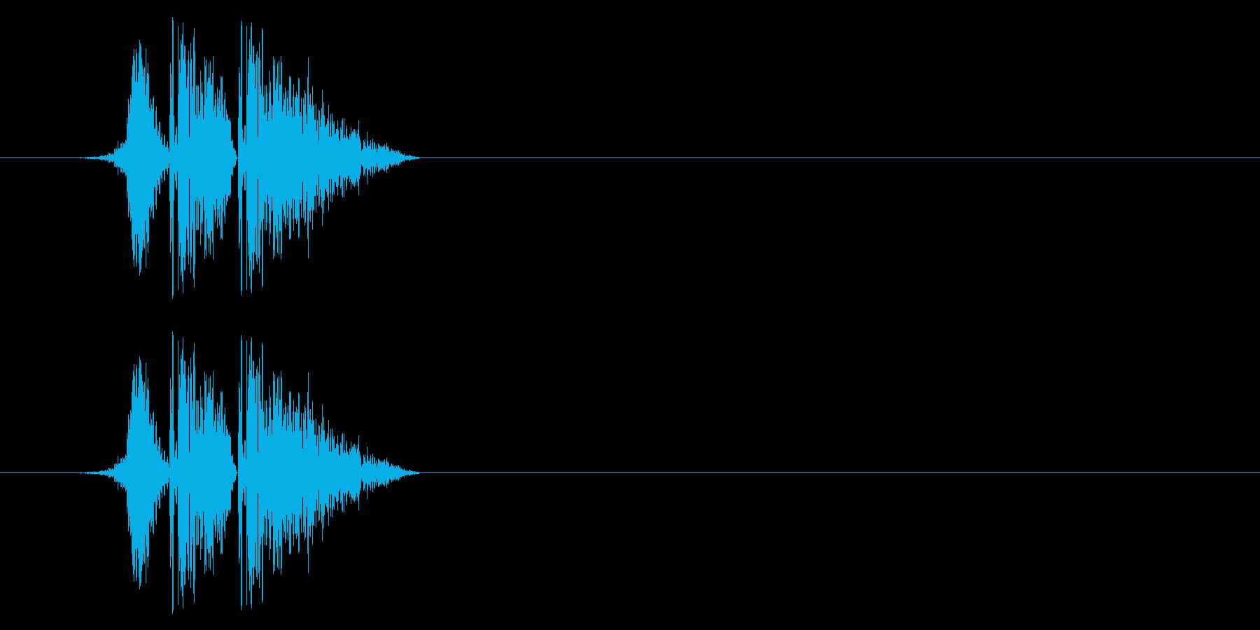 打撃08-4の再生済みの波形