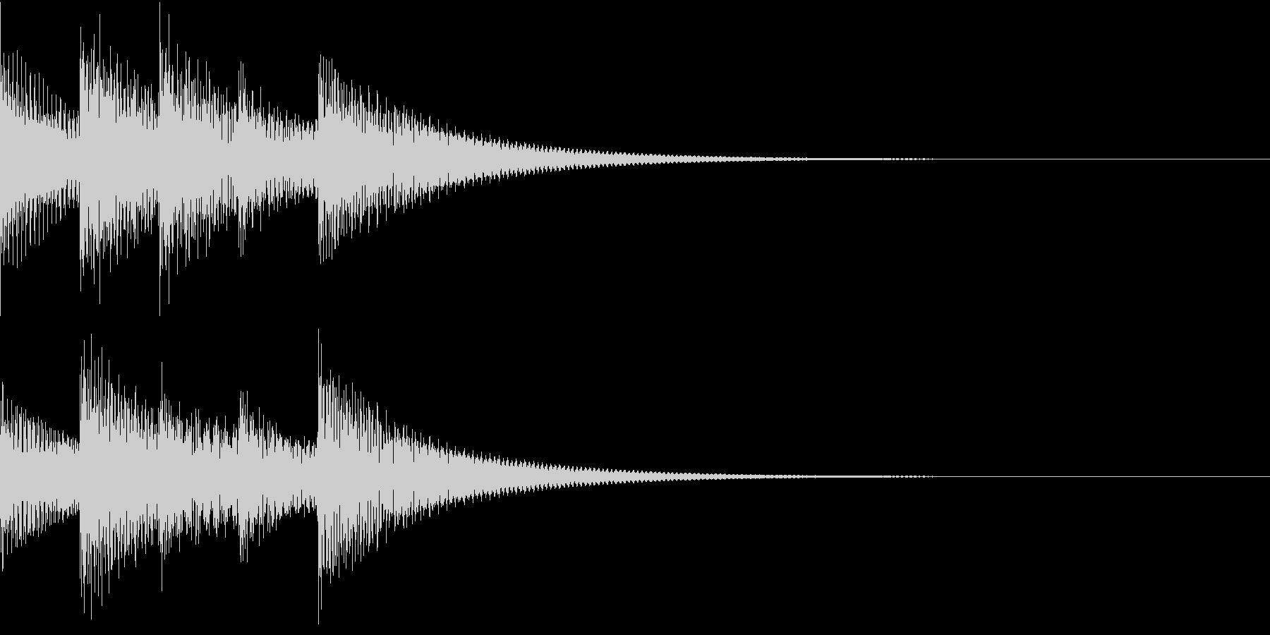 シンプルベル お知らせ ハテナ ? 16の未再生の波形