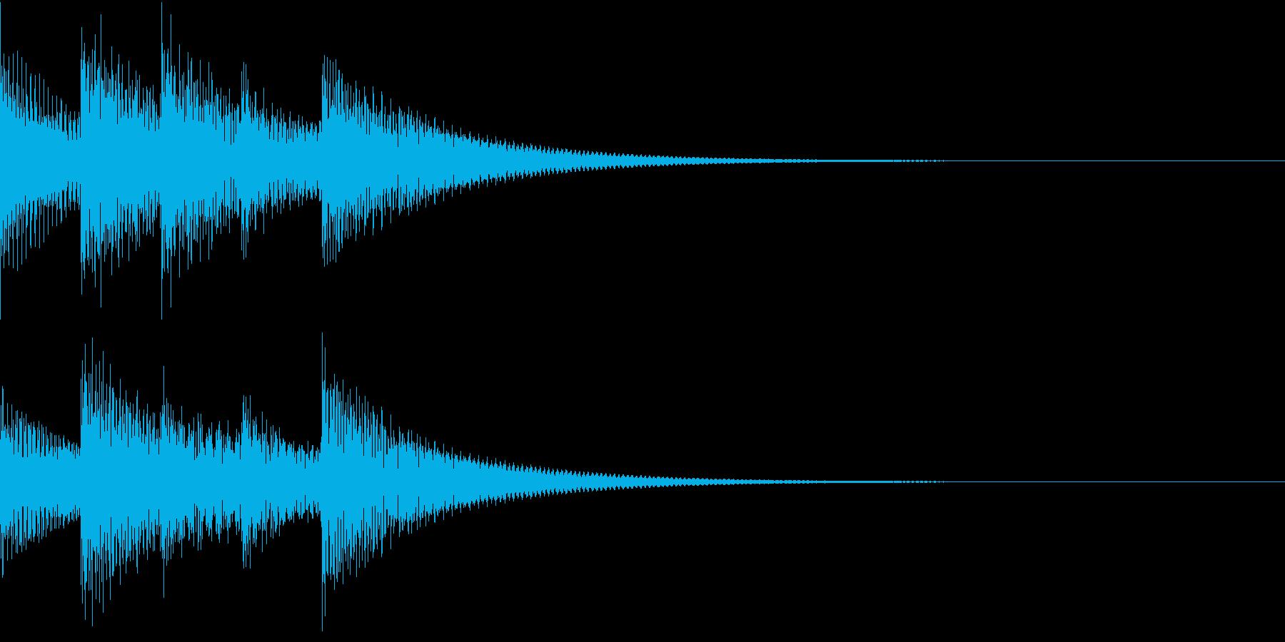 シンプルベル お知らせ ハテナ ? 16の再生済みの波形