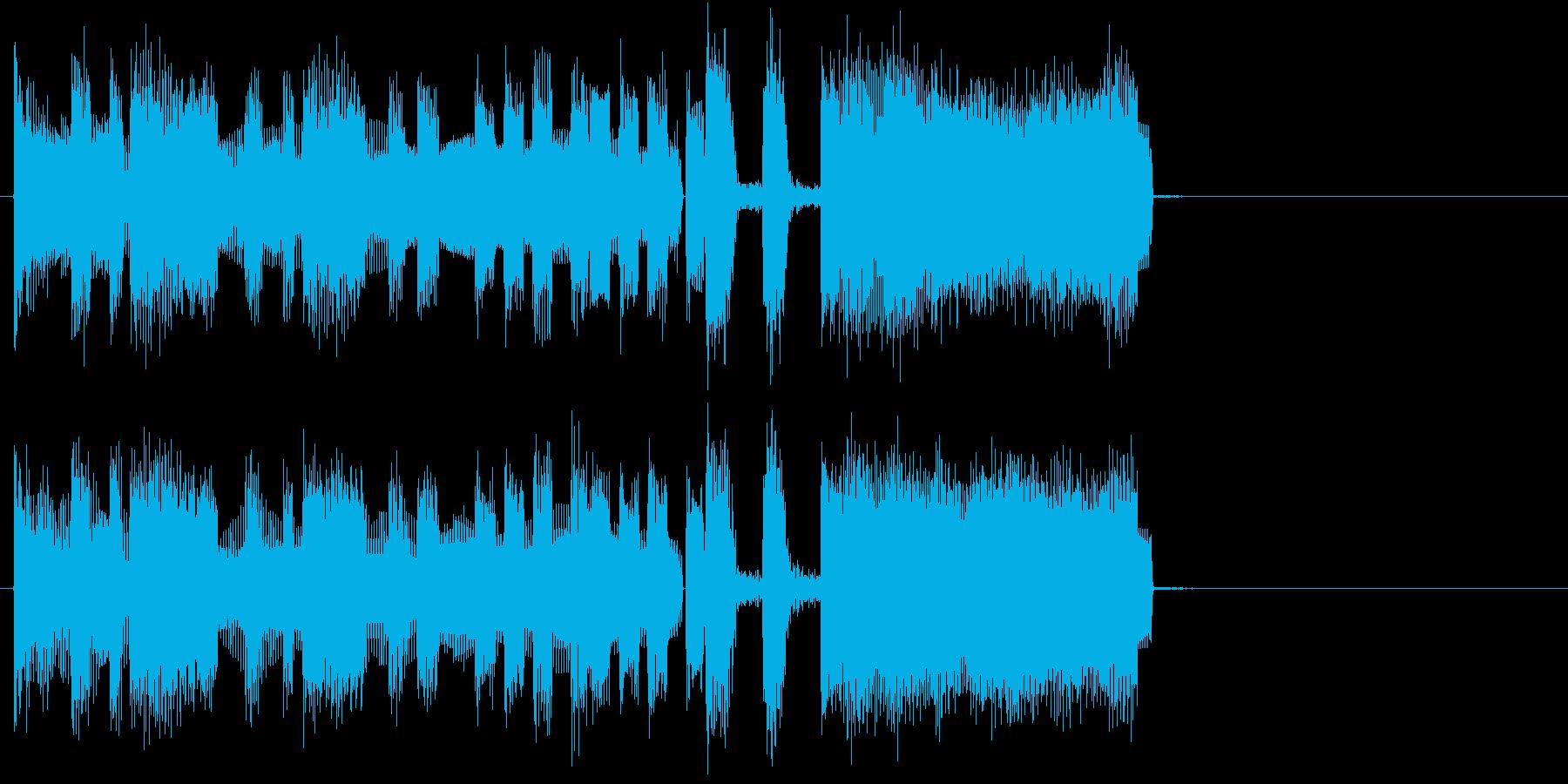 ファンファーレ(シンセのラッパ)の再生済みの波形