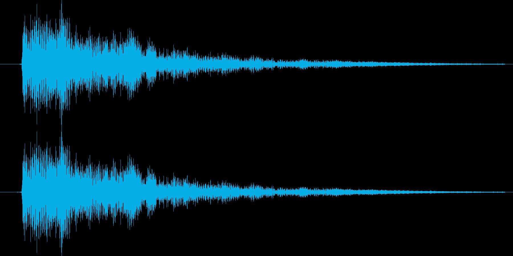 キュイン【決定音】 RPGの戦闘画面向けの再生済みの波形