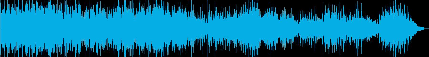約3分の、幻想的で現代音楽的なピアノ楽曲の再生済みの波形