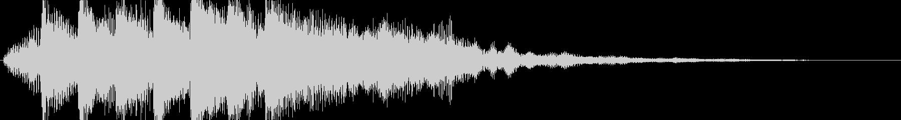 ピアノとシンセの音が印象的なサウンドロゴの未再生の波形