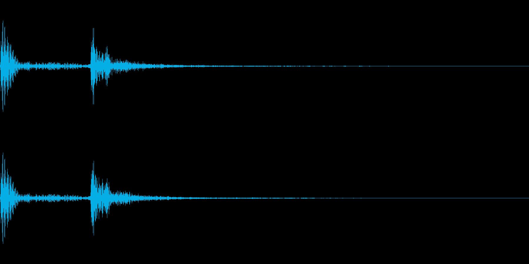 コミカルなヒット音。「ポカ」の再生済みの波形