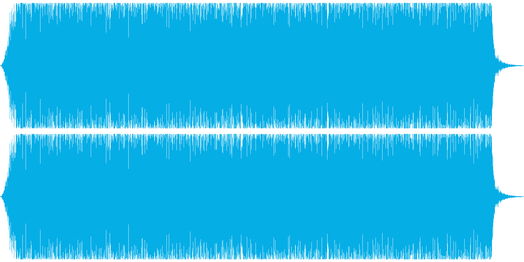 ゴー(地震、地鳴りの音)の再生済みの波形