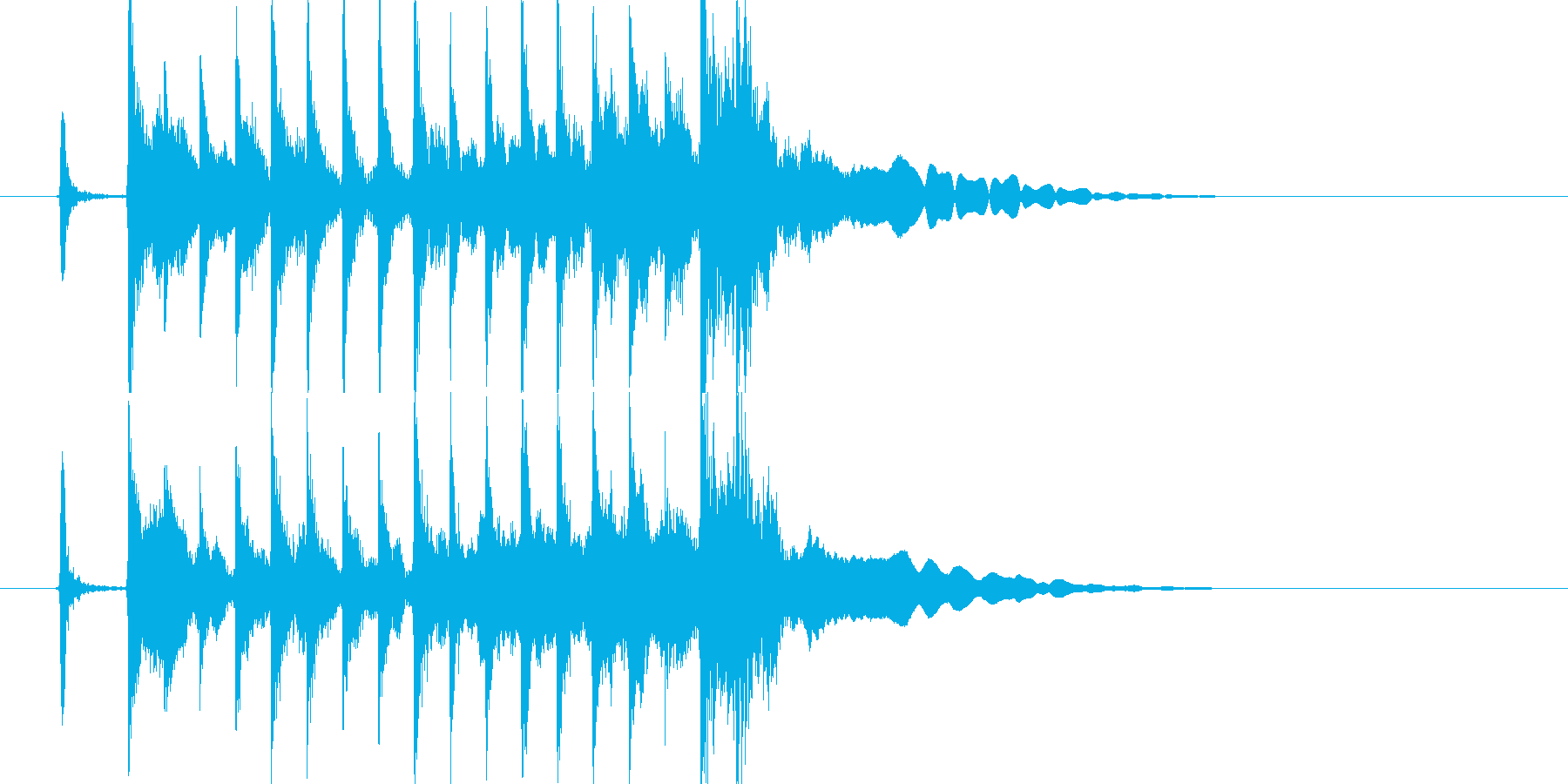 三味線主体の和風ジングル2 掛け声有の再生済みの波形
